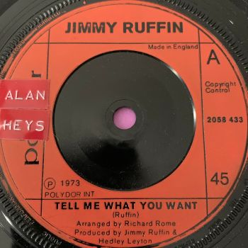 Jimmy Ruffin-Tell me what you want-Polydor E+