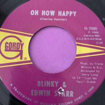 Blinky & Edwin Starr-Oh how happy-Gordy E+