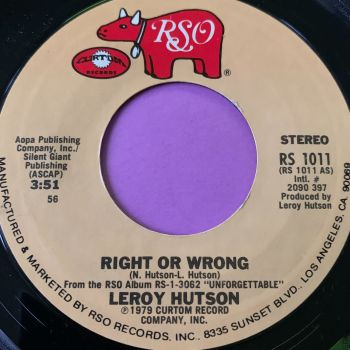 Leroy Hutson-Right or wrong-RSO  E+