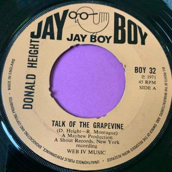 Donald Height-Talk of the grapevine-UK Jayboy noc E+