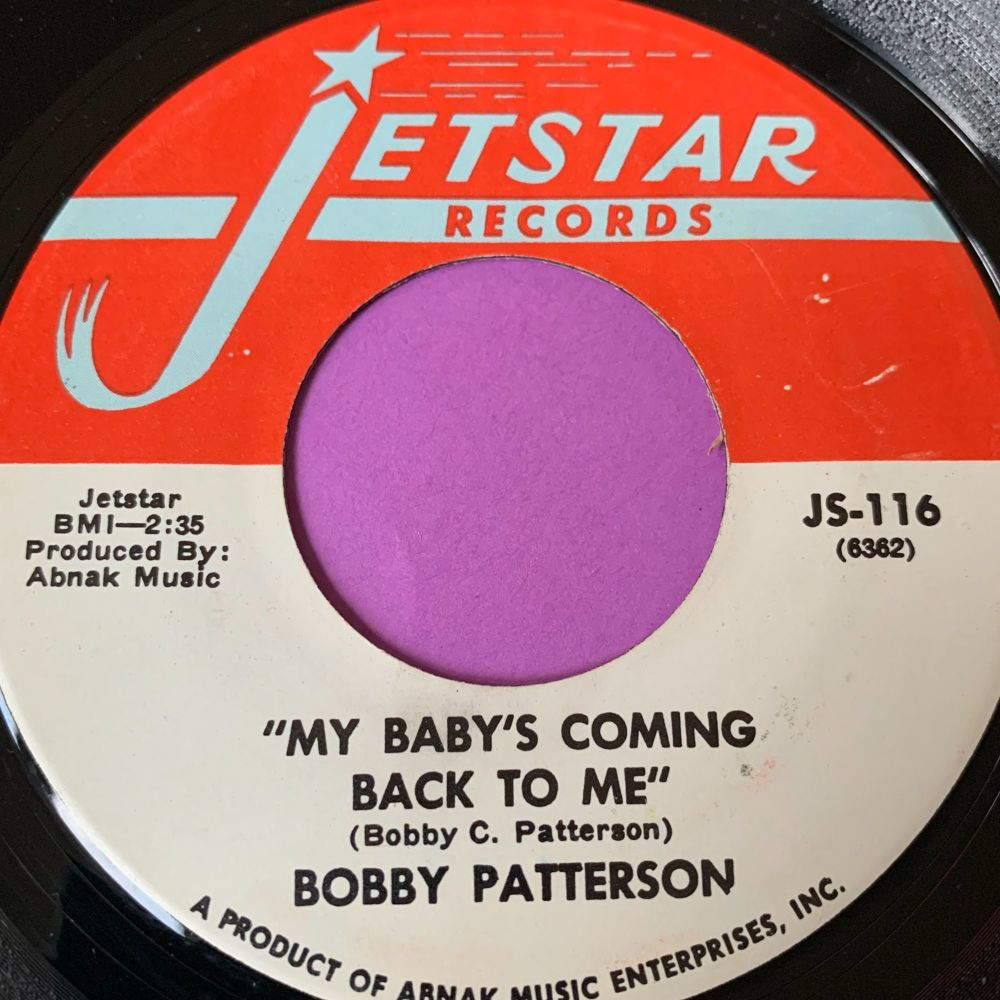 Bobby Patterson-My baby's coming back to me-Jetstar E+