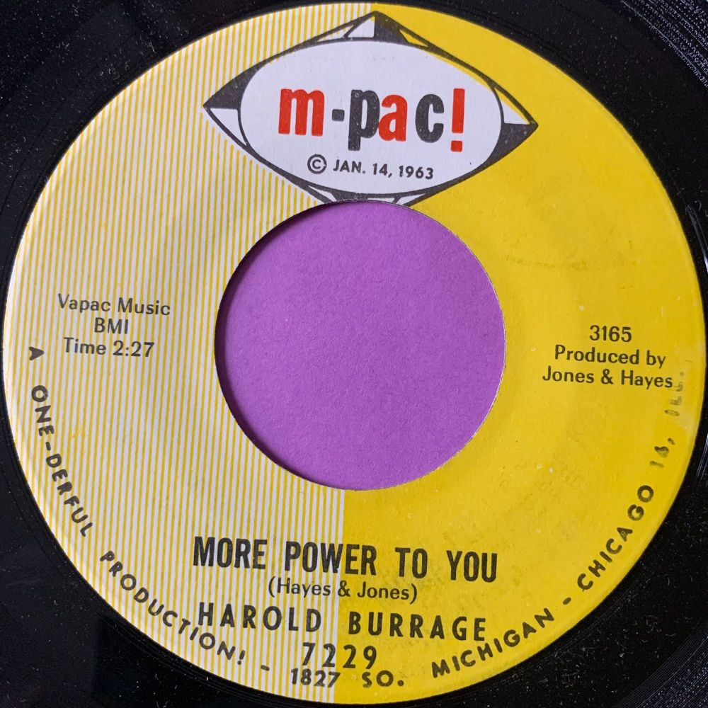 Harold Burrage-More power to you-M-Pac M-