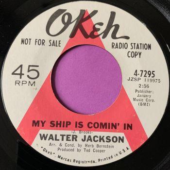 Walter Jackson-My ship is coming in-Okeh Demo E+