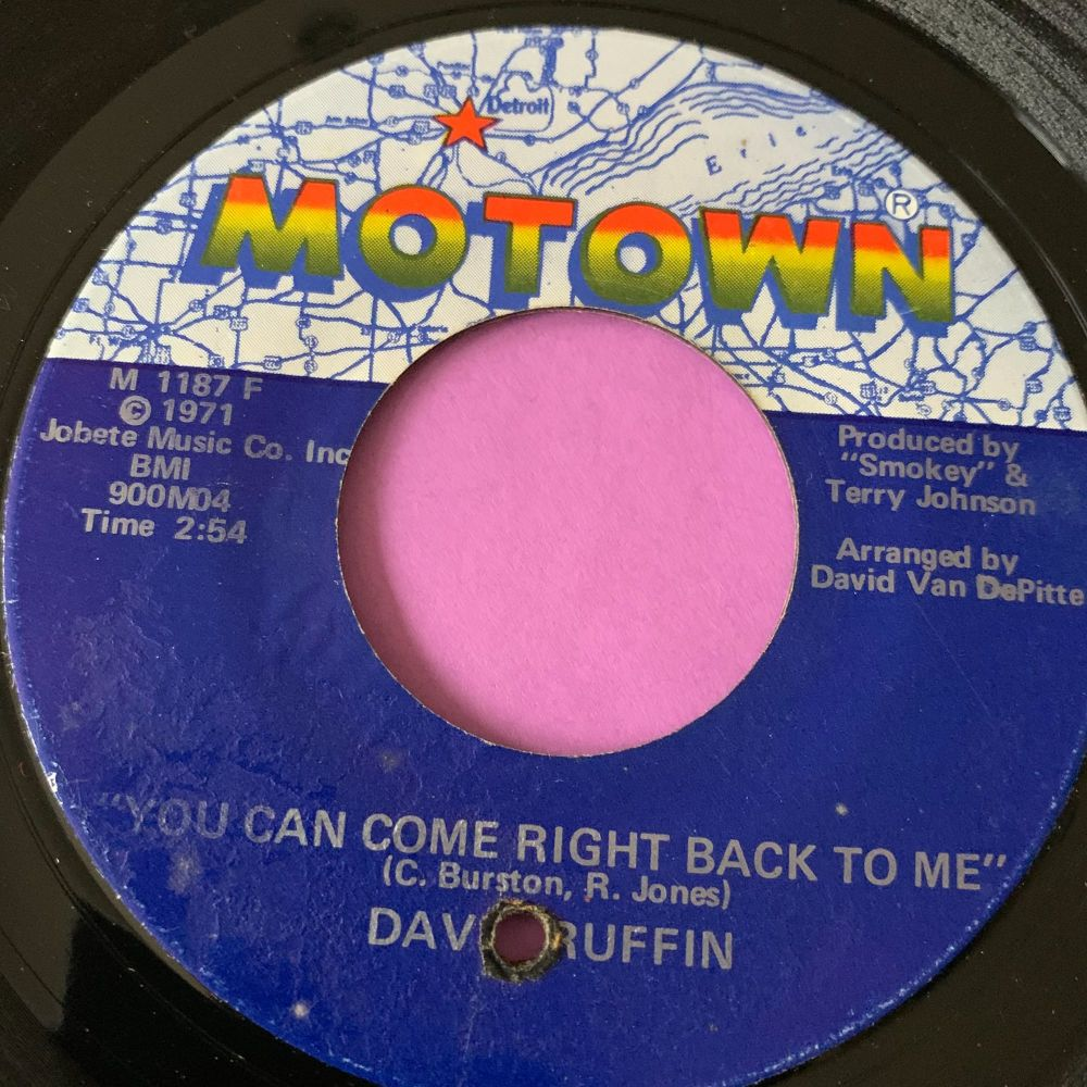 David Ruffin-You can come right on back to me-Motown E