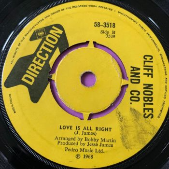 Cliff Nobles-Love is alright-UK Direction vg+
