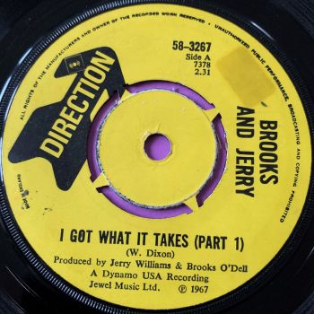 Brooks and Jerry-I got what it takes-UK Direction stkr E
