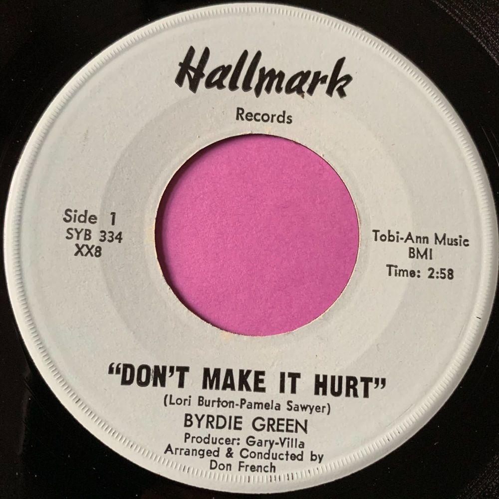 Byrdie Green-Don't make it hurt-Hallmark E+