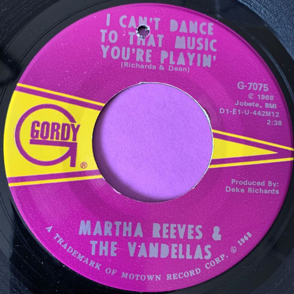 Martha Reeves-I can't dance to that music...-Gordy E+