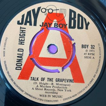 Donald Height-Talk of the grapevine-UK Jayboy Demo E+