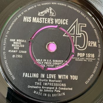 Impressions-Falling in love with you-UK HMV E+
