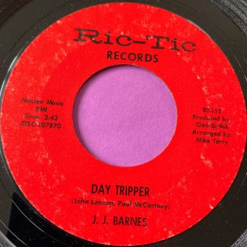 J.J Barnes-Day tripper/ Don't bring me bad news-Ric-Tic E+