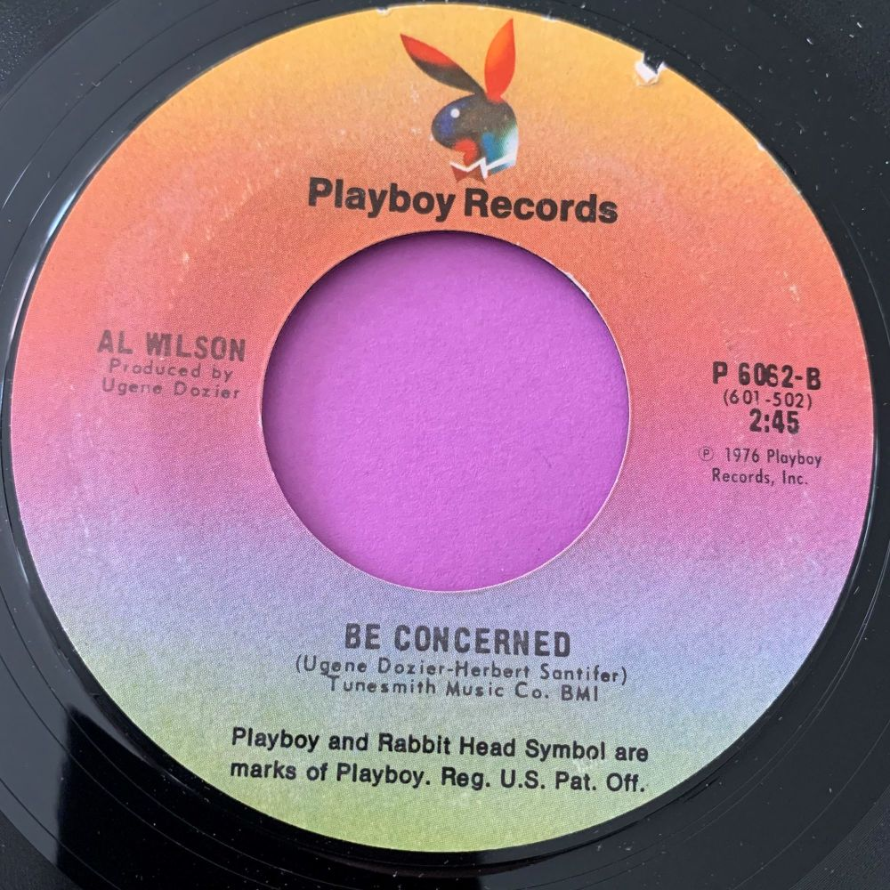 Al Wilson-Be concerned/ I've got a feeling...-Playboy E+