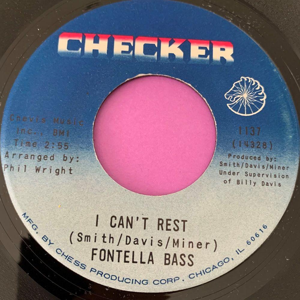 Fontella Bass-I can't rest-Checker E+