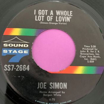 Joe Simon-I got a whole lot of lovin'-Sound stage 7 M-