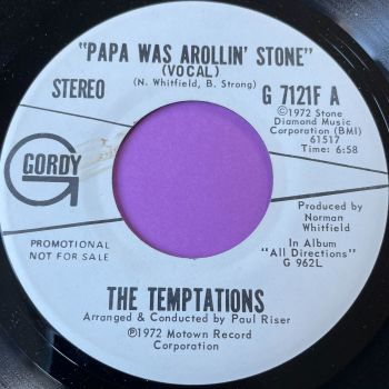 Temptations-Papa was a rolling stone-Gordy WD vg+