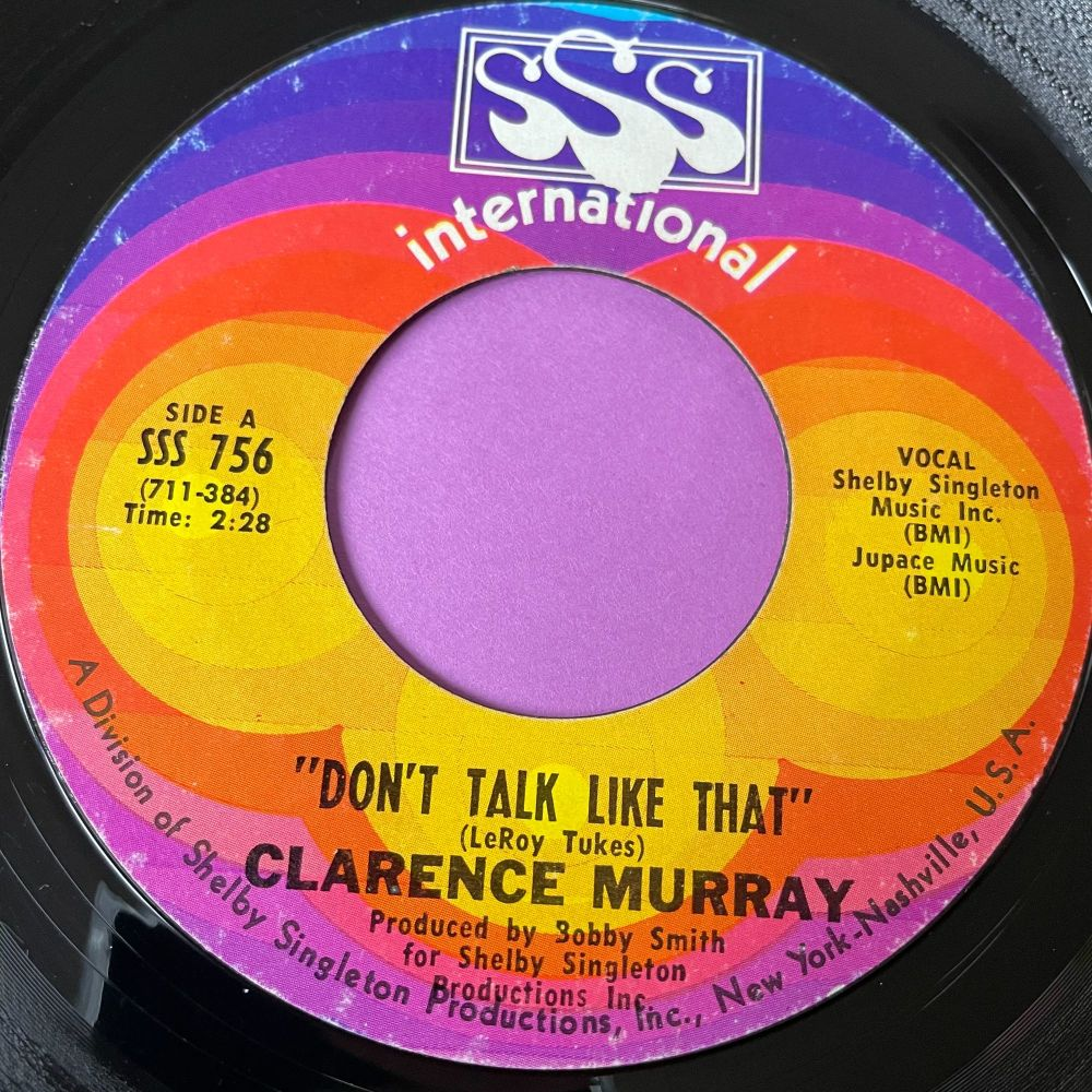 Clarence Murray-Don't talk like that-SSS Int.  E+