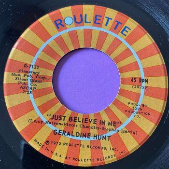 Geraldine Hunt-Just believe in me-Roulette E+