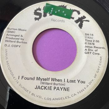 Jackie Payne-I found myself when I lost you-Shock WD stkr vg+
