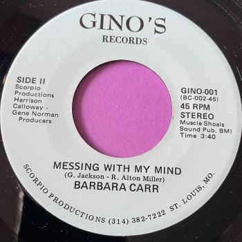 Barbara Carr-Messing with my mind-Gino's E+