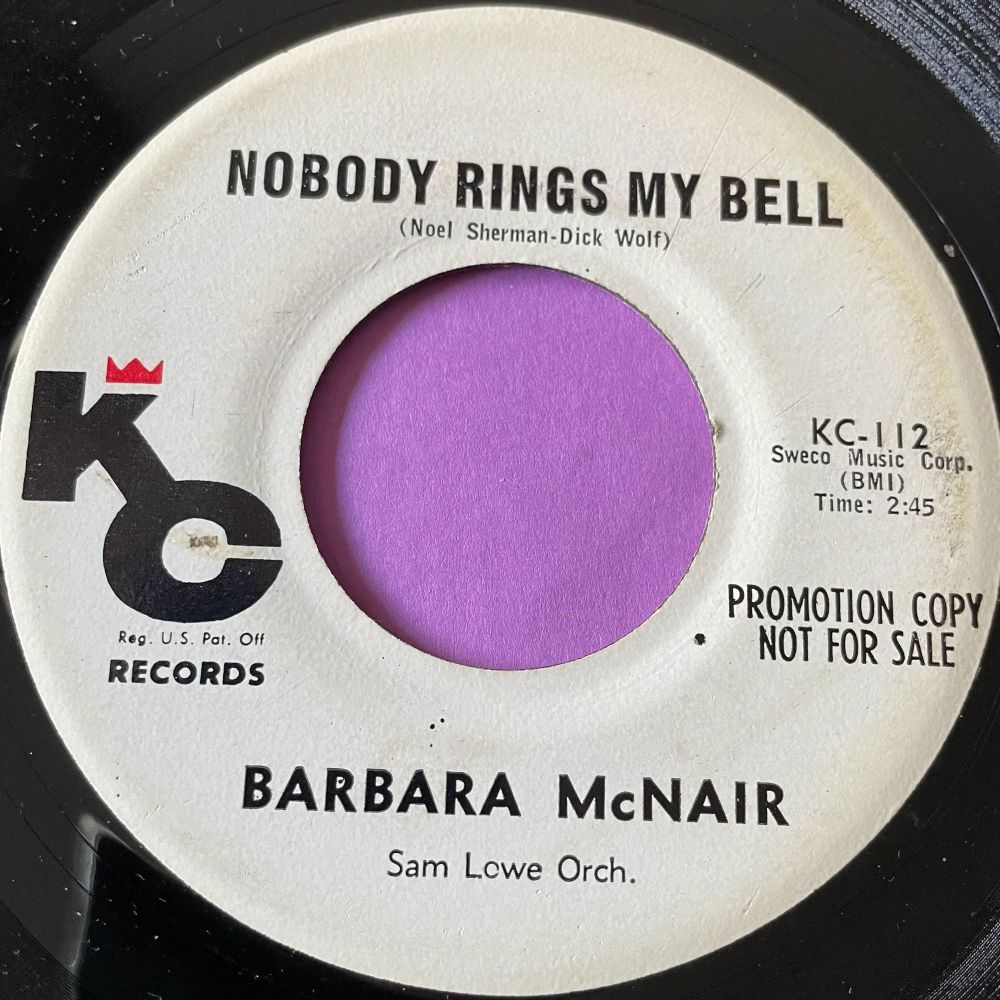 Barbara McNair-Nobody rings my bell-KC M-