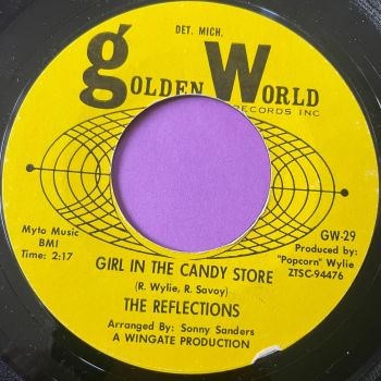 Reflections-Girl in the candy store-Golden world