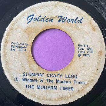 Modern Times-Stompin' crazy legs-Golden world label damage E