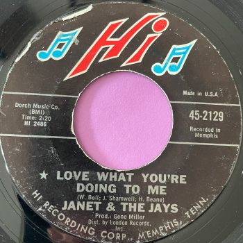 Janet & The Jays-Love what you're doing to me-Hi E