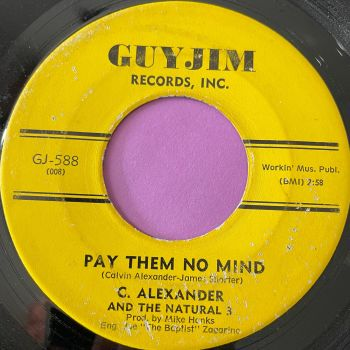 C. Alexander-Pay them no mind-Guyjim vg