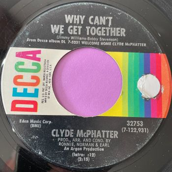Clyde McPhatter-Why can't we get together-Decca stkr E