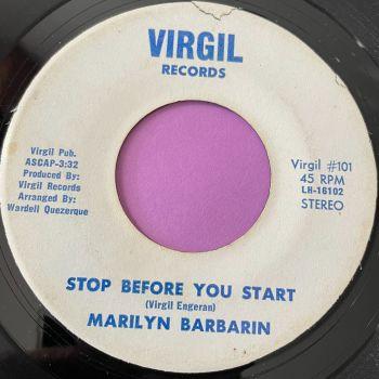 Marilyn Barbarin-Stop before you start-Virgil vg+