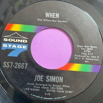 Joe Simon-When-Sound Stage 7-E+