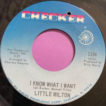 Little Milton-I know what I want-Checker E+