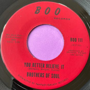 Brothers of Soul-You better believe it/ A lifetime-Boo E+
