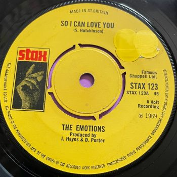 Emotions-So I can love you-UK Stax stkr E