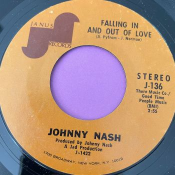 Johnny Nash-Falling in and out of love-Janus E+