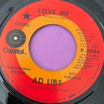 Ad Libs-Love me-Capitol E+