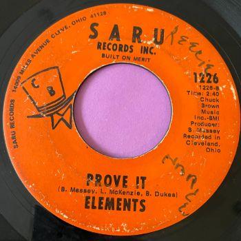 Elements-Prove it-Saru g