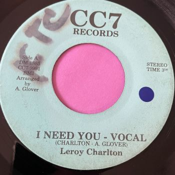 Leroy Charlton-I need you-CC7 wol E