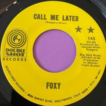 Foxy-Call me later-Double shot E+