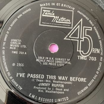 Jimmy Ruffin-I've passed this way before-TMG 703 E+
