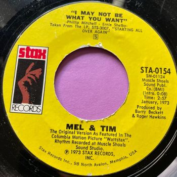 Mel & Tim-I may not be what you want-Stax E
