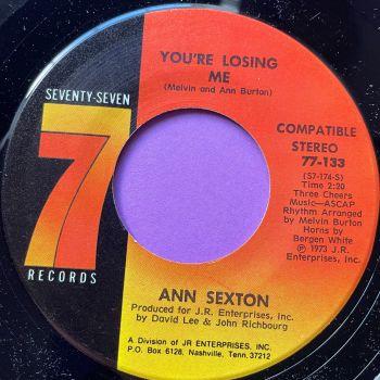 Ann Sexton-You're losing me-Seventy seven M-