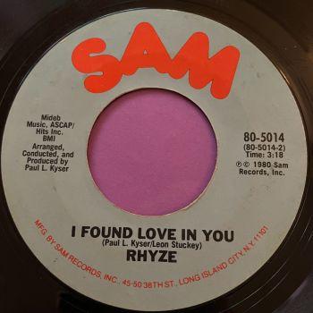 Rhyze-I found love in you-Sam E+