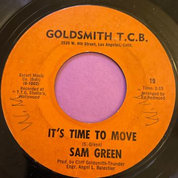 Sam Green-It's time to move/ First there's a tear-Goldsmith vg+