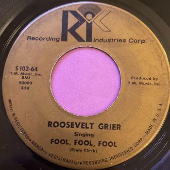 Roosevely Grier-Fool, fool, fool-Rik vg+
