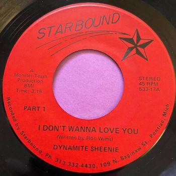 Dynamite Sheenie I don't wanna love you-Starbound E+