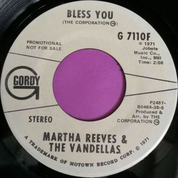 Martha Reeves-Bless you-Gordy WD M-