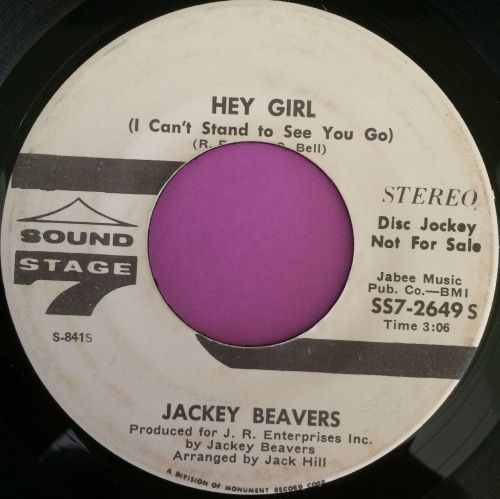 Jackey Beavers-Hey girl-Sound stage 7 WD E+