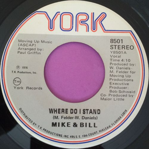 Mike and Bill-Where do I stand-York E+