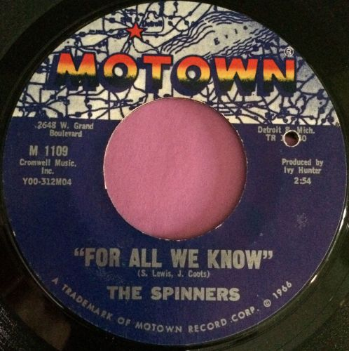 Spinners-For all we know-Motown E+